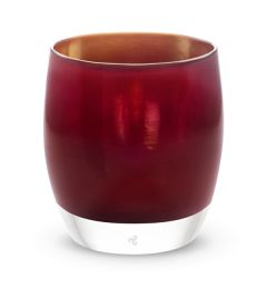 wine red with silver metallic interior glass votive candle holder