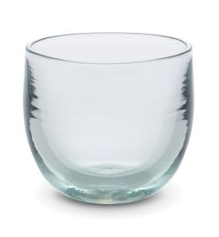 hand-blown crystal clear drinking glass